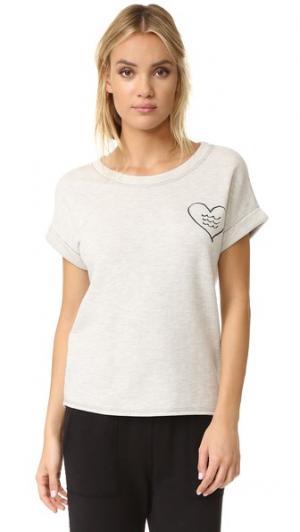 Пуловер Corazon с короткими рукавами Sol Angeles. Цвет: светлый меланж