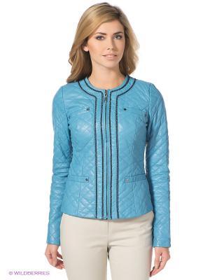 Куртка STEFANO FERRI. Цвет: голубой