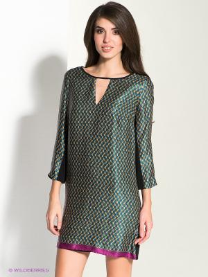 Платье MICHELLE WINDHEUSER. Цвет: черный, синий