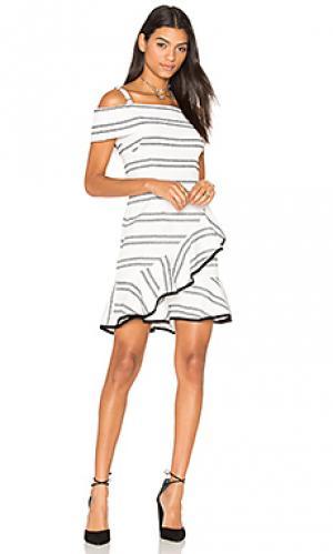 Мини юбка с рюшами jupiter Rebecca Vallance. Цвет: белый