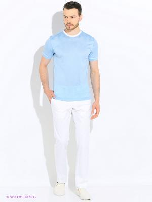 Футболка LUIGI FERRO. Цвет: голубой