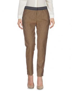 Повседневные брюки TERESA DAINELLI. Цвет: коричневый