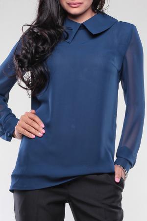 Блуза MAURINI. Цвет: темно-синий