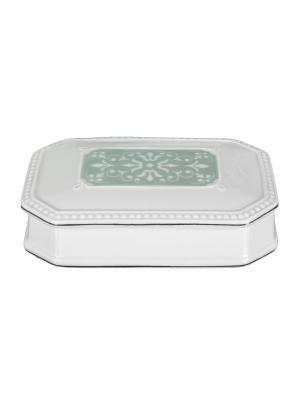 Шкатулка Hermitage WESS. Цвет: белый, зеленый