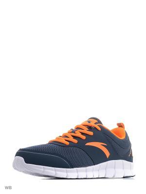 Кроссовки ANTA. Цвет: синий, белый, оранжевый