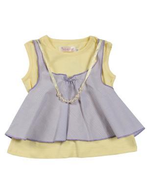 Блузка ВЕНЕЙЯ. Цвет: желтый