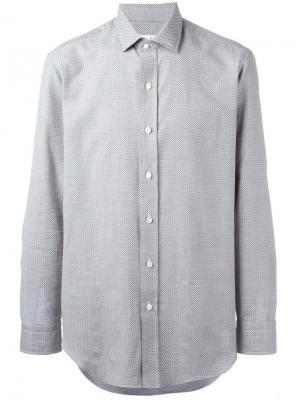 Рубашка с мелким узором Salvatore Piccolo. Цвет: синий