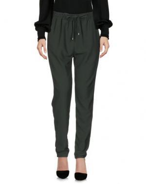 Повседневные брюки KONTATTO. Цвет: зеленый