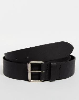 ASOS Черный кожаный ремень. Цвет: черный