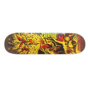 Дека для скейтборда  S6 Bingaman Circus Of Damned 32 x 8.375 (21.3 см) Creature. Цвет: оранжевый,желтый,черный