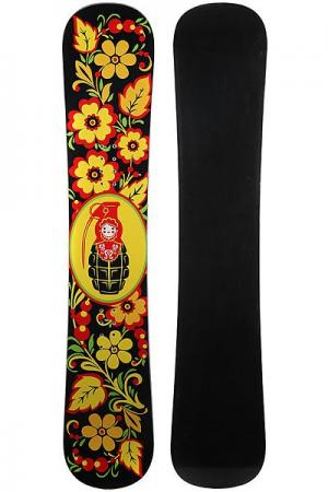 Сноуборд  Matreshka Black/Red/Yellow/Green Turbo-FB. Цвет: черный,красный,желтый,зеленый