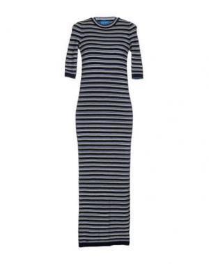 Длинное платье MIH JEANS. Цвет: темно-синий