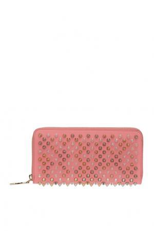 Кожаный кошелек W Panettone Christian Louboutin. Цвет: розовый