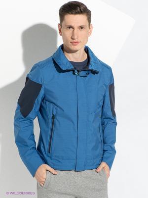 Куртка HUGO BOSS. Цвет: синий