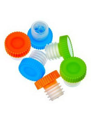 Набор пробок для бутылок 6шт, пластик, 2,5х2,5см Vetta. Цвет: красный