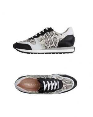 Низкие кеды и кроссовки ANDREA CATINI. Цвет: черный