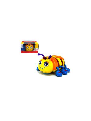 Игрушка детская Жучок со звуковыми и световыми эффектами HUILE. Цвет: желтый, оранжевый, синий