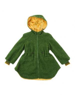 Пальто MIMISOL. Цвет: зеленый