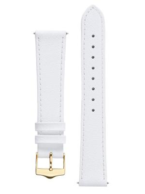 Классический ремешок для часов из кожи теленка. Ширина от 14 до 18 мм Signature. Цвет: белый