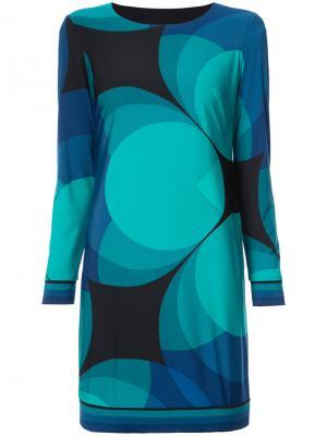 Платье с геометрическим принтом Trina Turk. Цвет: зелёный