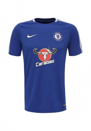 Футболка спортивная Nike. Цвет: синий