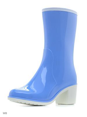 Сапоги ДюнАстра. Цвет: голубой, белый, светло-голубой