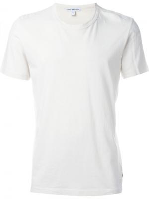 Классическая футболка James Perse. Цвет: белый