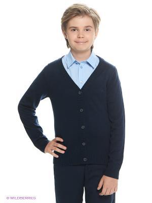 Джемпер Button Blue. Цвет: темно-синий