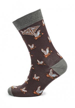 Носки Запорожец Heritage. Цвет: коричневый