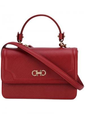 Декорированная сумка на плечо Salvatore Ferragamo. Цвет: красный