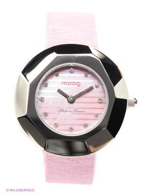 Часы MOOG. Цвет: бледно-розовый