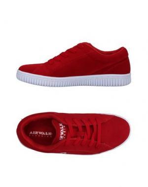 Низкие кеды и кроссовки AIRWALK. Цвет: красный