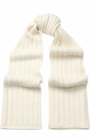 Кашемировый шарф Allude. Цвет: белый