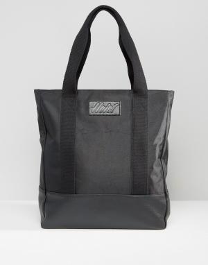 Heist Нейлоновая сумка-тоут с отделкой из искусственной кожи. Цвет: черный
