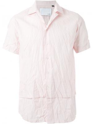 Рубашка с короткими рукавами Matthew Miller. Цвет: розовый и фиолетовый