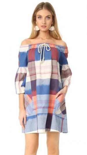 Платье Sunset Sail Warm. Цвет: голубой/коралловый