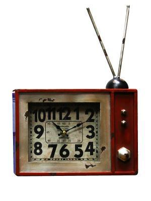 Часы настольные Радиоприёмник ArteNuevo. Цвет: бордовый
