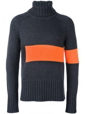 Colour block knit rollneck Wooster + Lardini. Цвет: серый