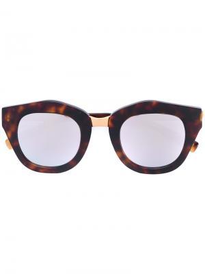 Зеркальные солнцезащитные очки Spektre. Цвет: коричневый