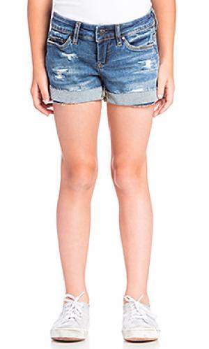 Потертые джинсовые шорты BLANKNYC. Цвет: синий