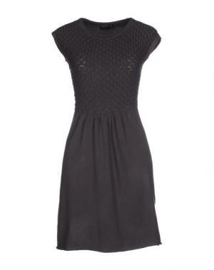Короткое платье SIMONA MARTINI. Цвет: свинцово-серый