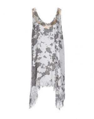Короткое платье MONICA •LENDINEZ. Цвет: стальной серый