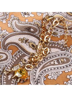 73020 Набор подарочный, Платок+браслет Venuse. Цвет: серебристый, золотистый