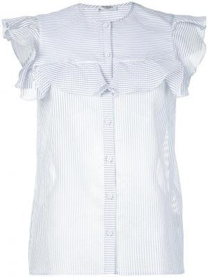 Полосатая рубашка без рукавов Vilshenko. Цвет: синий