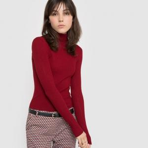 Пуловер облегающий R édition. Цвет: красный темный,темно-синий,тыквенный,черный