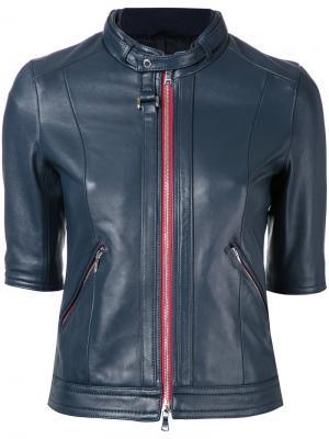 Куртка на молнии с укороченными рукавами Loveless. Цвет: синий