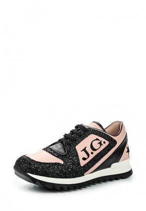 Кроссовки John Galliano. Цвет: розовый