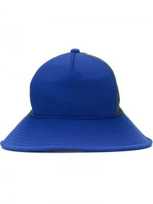 Шляпа с панельным дизайном Facetasm. Цвет: серый