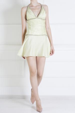 Шелковое платье Azzaro. Цвет: желтый