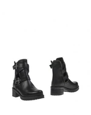 Полусапоги и высокие ботинки CULT. Цвет: черный